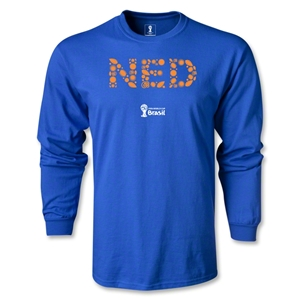 Netherlands 2014 FIFA World Cup Brazil(TM) Men's LS Elements T-Shirt (Royal)