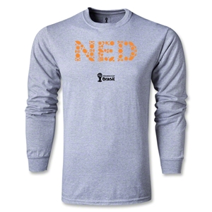 Netherlands 2014 FIFA World Cup Brazil(TM) Men's LS Elements T-Shirt (Grey)