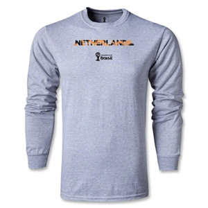 Netherlands 2014 FIFA World Cup Brazil(TM) Men's LS Palm T-Shirt (Grey)