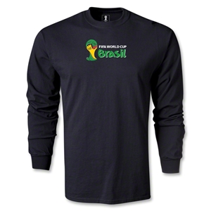 2014 FIFA World Cup Brazil(TM) LS Landscape Emblem T-Shirt (Black)