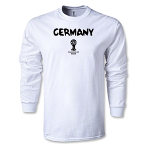 Germany 2014 FIFA World Cup Brazil(TM) Men's LS Core T-Shirt (White)