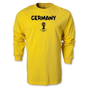 Germany 2014 FIFA World Cup Brazil(TM) Men's LS Core T-Shirt (Yellow)