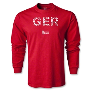 Germany 2014 FIFA World Cup Brazil(TM) Men's LS Elements T-Shirt (Red)