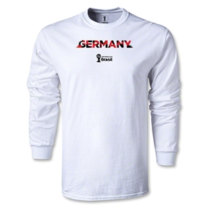 Germany 2014 FIFA World Cup Brazil(TM) Men's LS Palm T-Shirt (White)