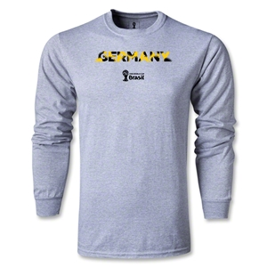 Germany 2014 FIFA World Cup Brazil(TM) Men's LS Palm T-Shirt (Grey)