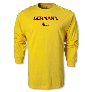 Germany 2014 FIFA World Cup Brazil(TM) Men's LS Palm T-Shirt (Yellow)