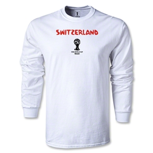 Switzerland 2014 FIFA World Cup Brazil(TM) Men's LS Core T-Shirt (White)