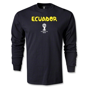 Ecuador 2014 FIFA World Cup Brazil(TM) Men's LS Core T-Shirt (Black)