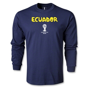 Ecuador 2014 FIFA World Cup Brazil(TM) Men's LS Core T-Shirt (Navy)