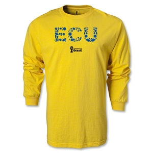 Ecuador 2014 FIFA World Cup Brazil(TM) Men's LS Elements T-Shirt (Yellow)