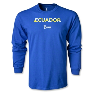 Ecuador 2014 FIFA World Cup Brazil(TM) Men's LS Palm T-Shirt (Royal)