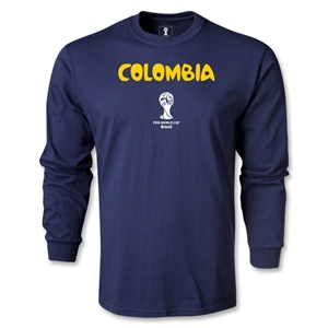 Colombia 2014 FIFA World Cup Brazil(TM) Men's LS Core T-Shirt (Navy)