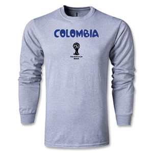 Colombia 2014 FIFA World Cup Brazil(TM) Men's LS Core T-Shirt (Grey)