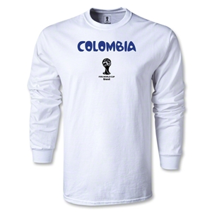 Colombia 2014 FIFA World Cup Brazil(TM) Men's LS Core T-Shirt (White)