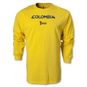 Colombia 2014 FIFA World Cup Brazil(TM) Men's LS Palm T-Shirt (Yellow)
