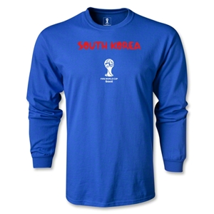 South Korea 2014 FIFA World Cup Brazil(TM) Men's LS Core T-Shirt (Royal)