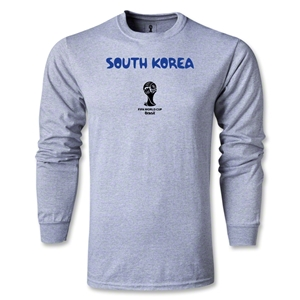 South Korea 2014 FIFA World Cup Brazil(TM) Men's LS Core T-Shirt (Gray)