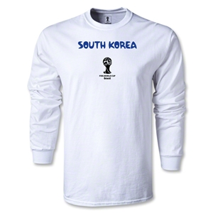South Korea 2014 FIFA World Cup Brazil(TM) Men's LS Core T-Shirt (White)