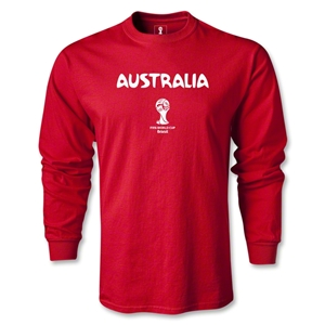 Australia 2014 FIFA World Cup Brazil(TM) Men's LS Core T-shirt (Red)