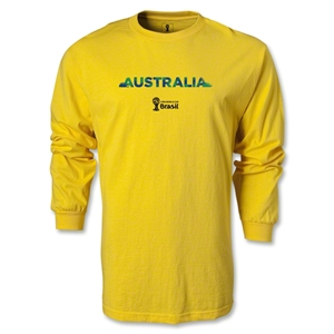 Australia 2014 FIFA World Cup Brazil(TM) Men's LS T-shirt (Yellow)