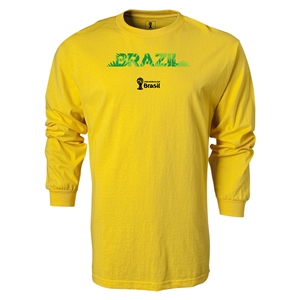 Brazil 2014 FIFA World Cup Brazil(TM) LS Team T-Shirt (Yellow)