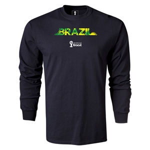 Brazil 2014 FIFA World Cup Brazil(TM) LS Team T-Shirt (Black)