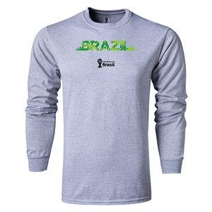 Brazil 2014 FIFA World Cup Brazil(TM) LS Team T-Shirt (Gray)