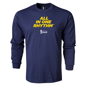 2014 FIFA World Cup Brazil(TM) LS All in One Rhythm T-Shirt (Navy)
