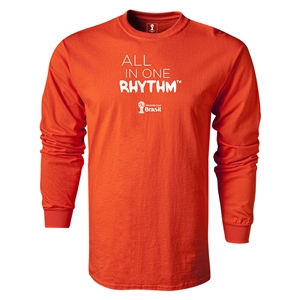 2014 FIFA World Cup Brazil(TM) LS All in One Rhythm T-Shirt (Orange)