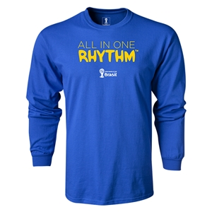 2014 FIFA World Cup Brazil(TM) LS All in One Rhythm T-Shirt (Royal)