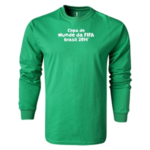 2014 FIFA World Cup Brazil(TM) LS Portugese Logotype T-Shirt (Green)