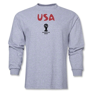 USA 2014 FIFA World Cup Brazil(TM) Men's Longsleeve Core T-Shirt (Grey)