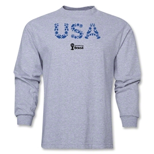 USA 2014 FIFA World Cup Brazil(TM) Men's LS Elements T-Shirt (Grey)