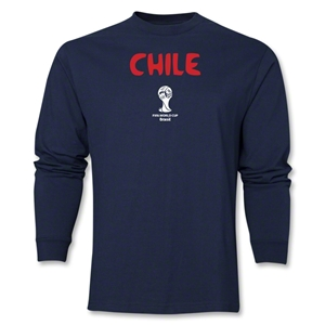 Chile 2014 FIFA World Cup Brazil(TM) Men's LS Core T-Shirt (Navy)