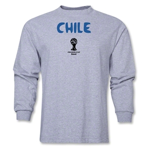 Chile 2014 FIFA World Cup Brazil(TM) Men's LS Core T-Shirt (Grey)
