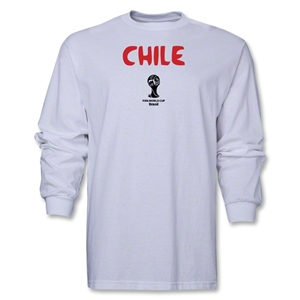 Chile 2014 FIFA World Cup Brazil(TM) Men's LS Core T-Shirt (White)