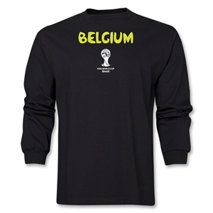 Belgium 2014 FIFA World Cup Brazil(TM) Men's LS Core T-Shirt (Black)