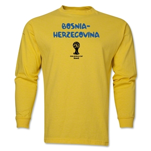 Bosnia-Herzegovina 2014 FIFA World Cup Brazil(TM) Men's LS Core T-Shirt (Yellow)