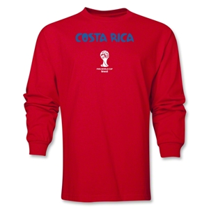 Costa Rica 2014 FIFA World Cup Brazil(TM) Men's Longsleeve Core T-Shirt (Red)