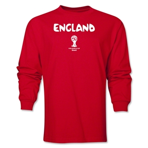 England 2014 FIFA World Cup Brazil(TM) Men's LS Core T-Shirt (Red)