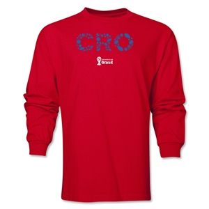 Croatia 2014 FIFA World Cup Brazil(TM) Men's LS Elements T-Shirt (Red)