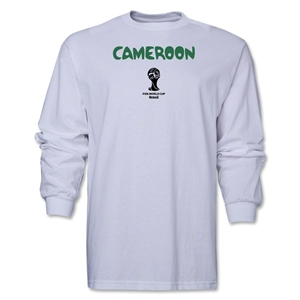 Cameroon 2014 FIFA World Cup Brazil(TM) Men's LS Core T-Shirt (White)