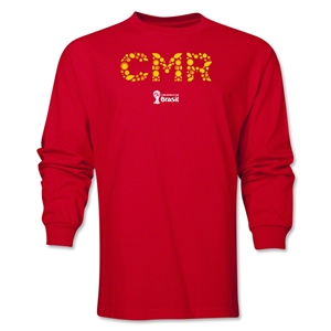 Cameroon 2014 FIFA World Cup Brazil(TM) Men's LS Element T-Shirt (Red)