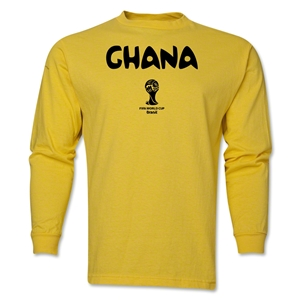 Ghana 2014 FIFA World Cup Brazil(TM) Men's LS Core T-Shirt (Yellow)