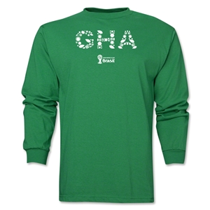 Ghana 2014 FIFA World Cup Brazil(TM) Men's LS Element T-Shirt (Green)