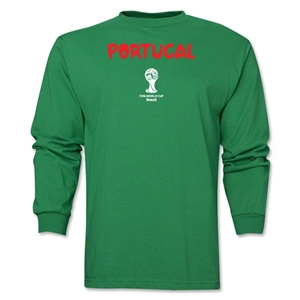 Portugal 2014 FIFA World Cup Brazil(TM) Men's LS Core T-Shirt (Green)