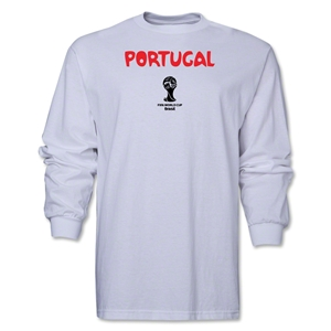 Portugal 2014 FIFA World Cup Brazil(TM) Men's LS Core T-Shirt (White)