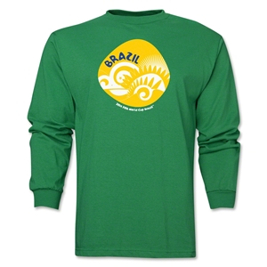 Brazil 2014 FIFA World Cup Brazil(TM) Men's LS Icon T-Shirt (Green)