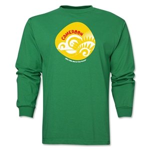 Cameroon 2014 FIFA World Cup Brazil(TM) Men's LS Icon T-Shirt (Green)