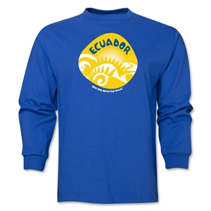 Ecuador 2014 FIFA World Cup Brazil(TM) Men's LS Icon T-Shirt (Royal)